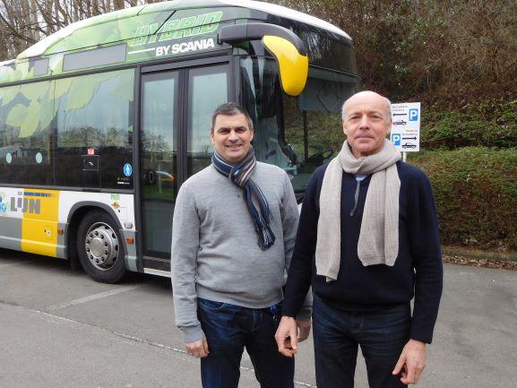Tom Van der Taelen en Hendrik Vesters Scania België